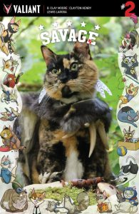 Savage #2 Valiant Cat Cosplay Cover