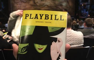 Broadway Marathon Playbill Wicked