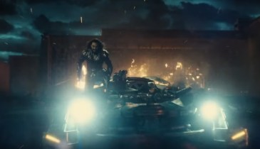 Batmobile Surfing in the Justice League Trailer