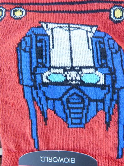 Transformer Socks Closeup