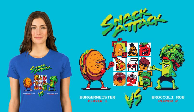Snack Attack T-shirt from Zillamunch