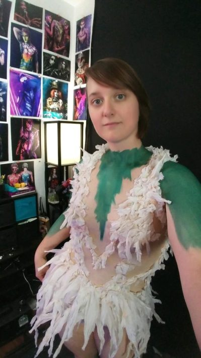 Tissue Paper Dress and Latex