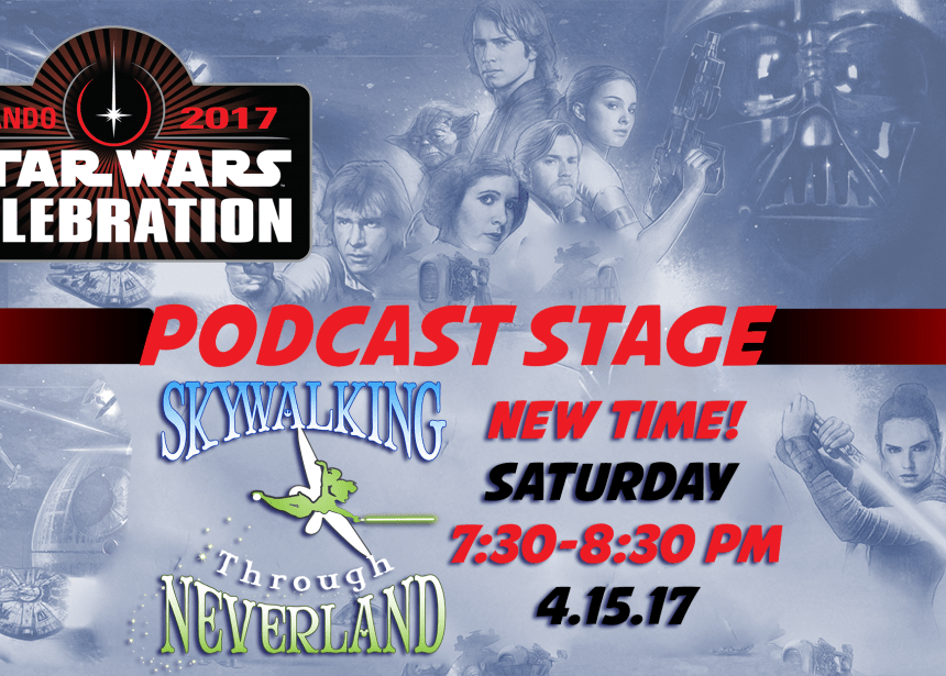 Skywalking Through Neverland on the Podcast Stage