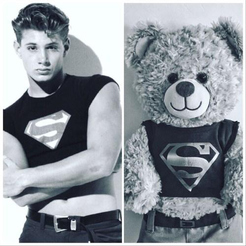 B&W Superman shirt Jensen Ackles & Dean Winchestbear