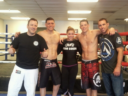 Ronda Rousey, training w/ Nick & Nate Diaz