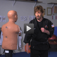 Chuck Norris going over some fight tips