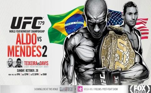 UFC 179 poster
