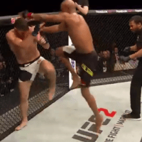 Video: Silva/Bisping, Controversial Flying Knee at end of 3rd