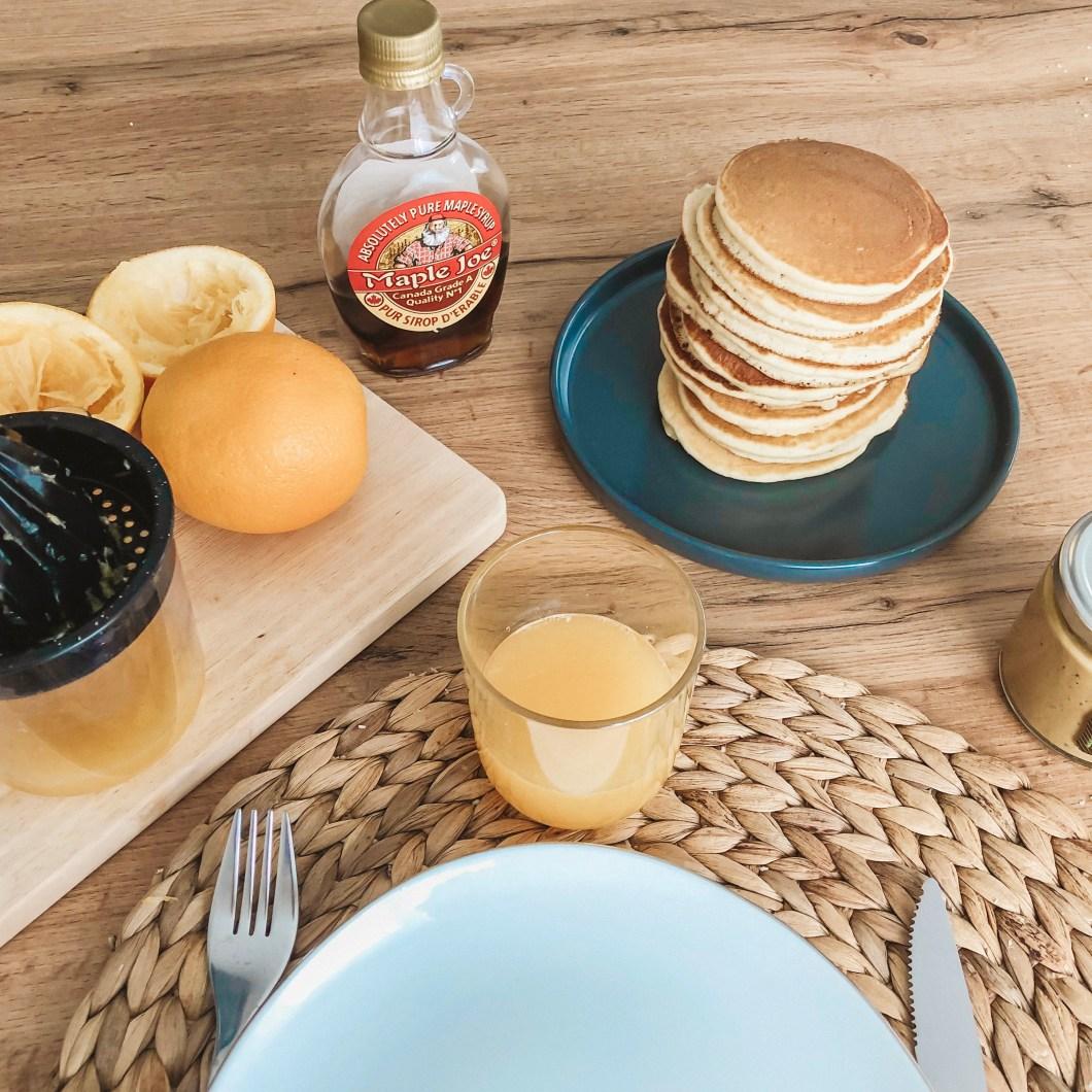 Pancakes moelleux pour le petit dejeuner