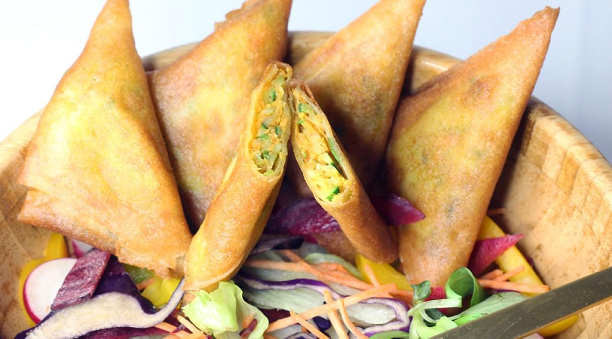 Samoussas aux légumes et aux épides indiennes par fannyalbx.com