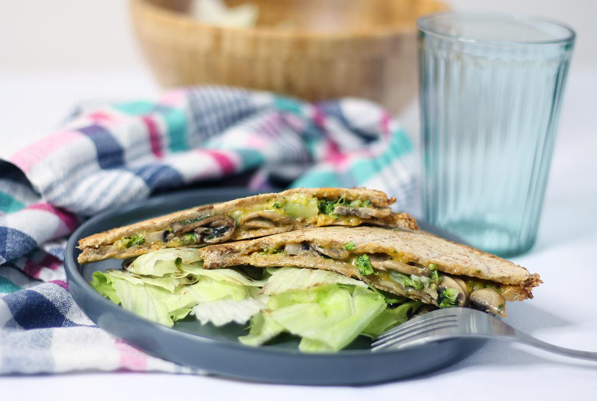 Croque-monsieurs au brocolis et aux champignons par fannyalbx.com