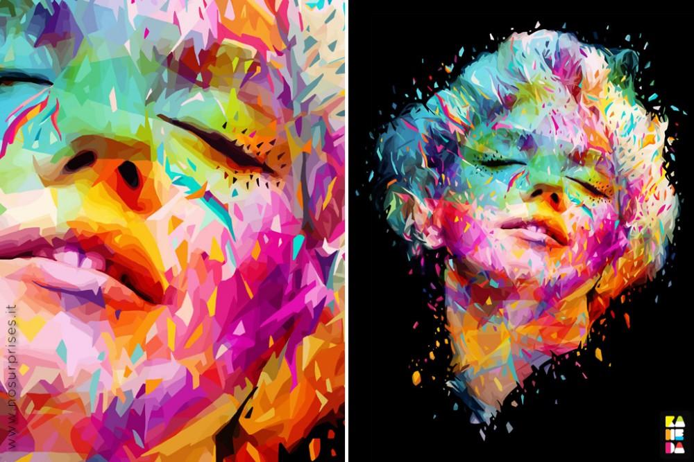 Explosions de couleurs avec les portraits d'Alessandro Pautasso