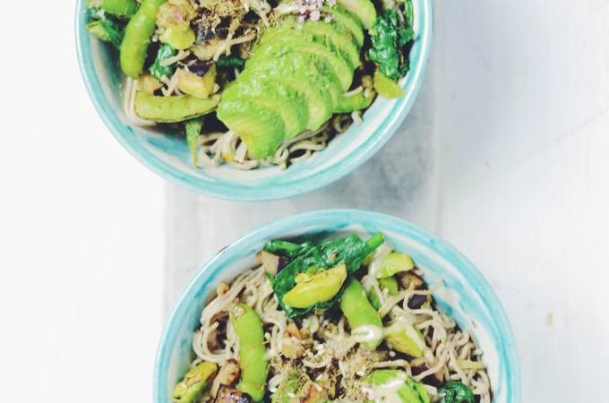 Creamy avocado tahini ramen with zatar –  amazingly yumm!