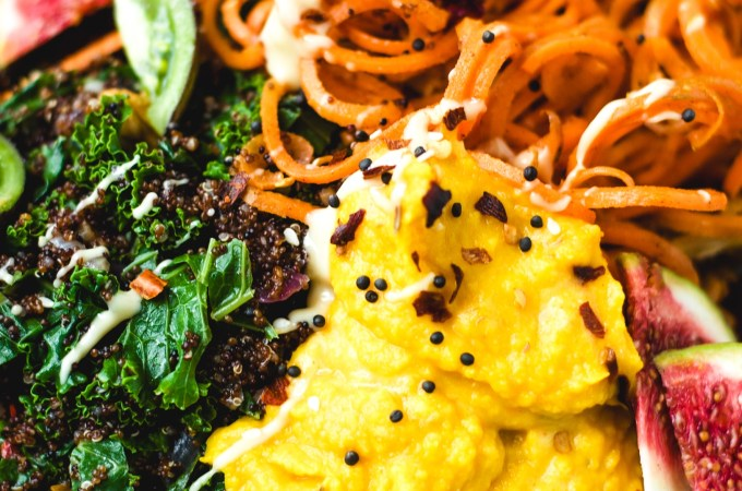 Autumn Buddah Bowl Part 1: Pumpkin Hummus