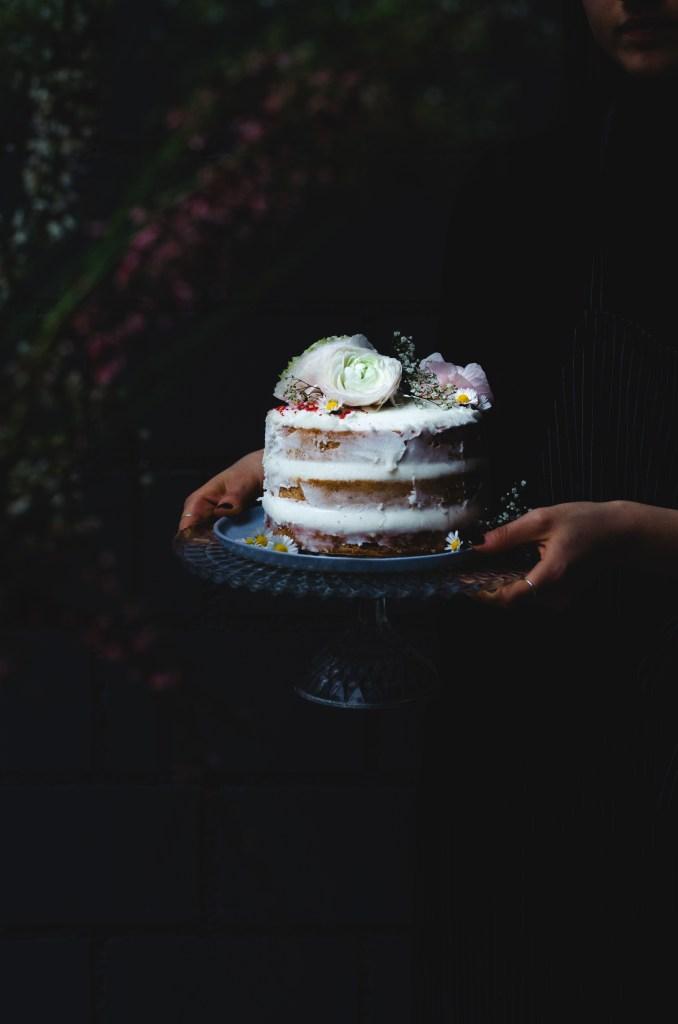 Vegan Spring Naked Cake