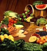 heel veel soorten fruit en groenten