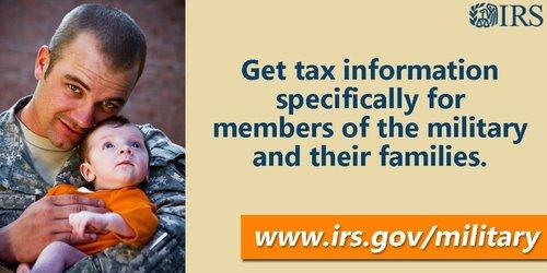 MilitarySpouseAppreciation ArmedForces MilFams IRS