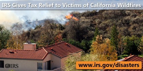 IRS wildfires flooding mudslides