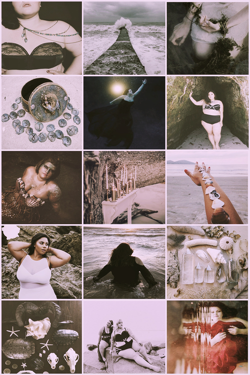 chubbywitch chubby plussize sea ocean witch witchcraft magic fantasy wicca beach Aesthetic moodboard chubbywitchaesthetic chubbyaesthetic witchaesthetic seaaesthetic