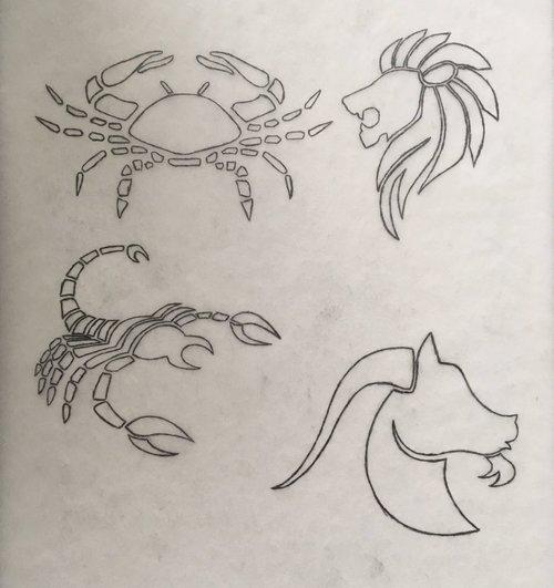 astrology zodiac wip sketch cancer leo scorpio capricorn