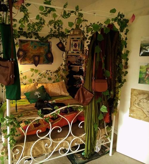 mine bedroom home nature elvish elven elvhen fantasy druid bohemian lordoftherings tolkien skyrim elderscrolls pagan