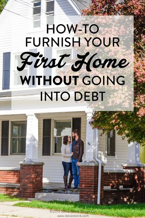 As a new homeowner, I understand the temptation to run up credit cards and charge accounts with furniture stores so your home can be decorated and finished as quickly as possible.