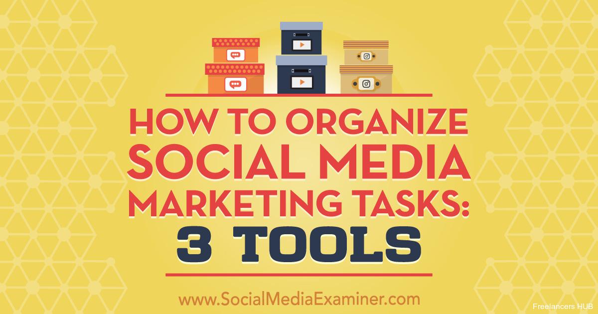 How to Organize Social Media Marketing Tasks: 3 Tools