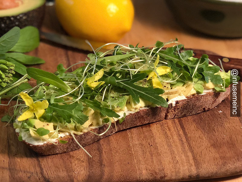 infusemeinc avocadotoast grapeseedoil goodeats yummy cooking breakfast morning lebanon boston newyork uppervalley hanover