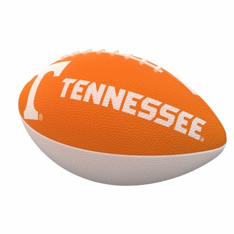 Tennessee Combo Logo Junior-Size Rubber Football