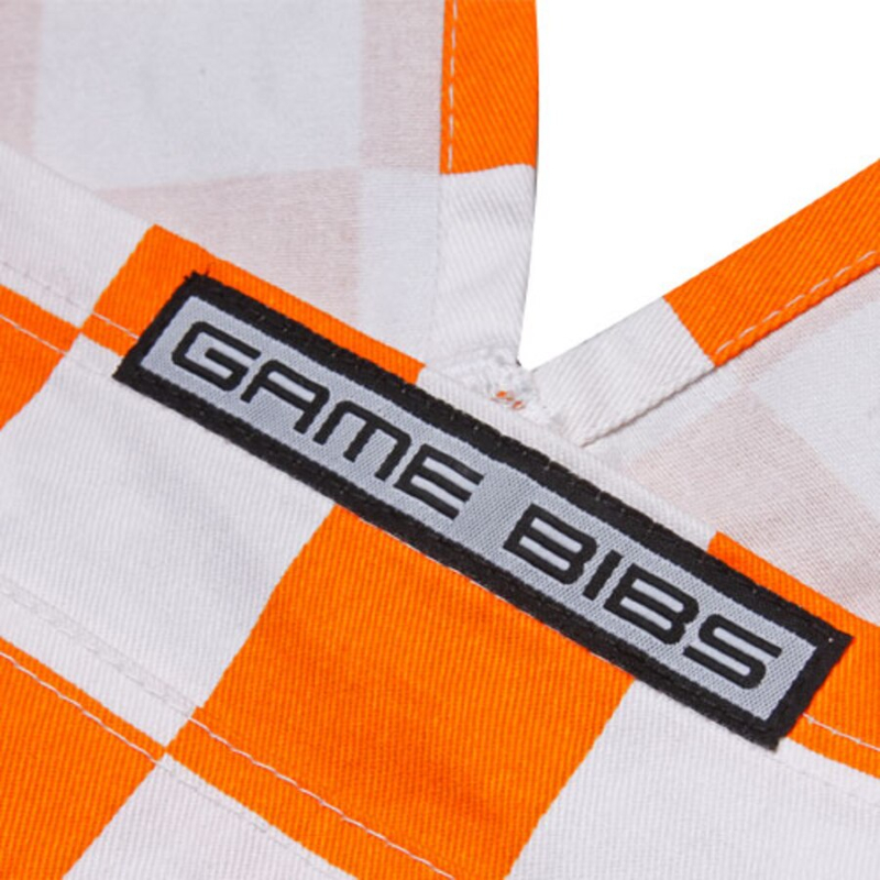 Orange and White Checkerboard Overalls