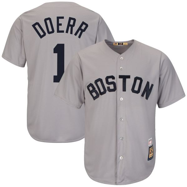 Mlb Bobby Doerr Boston Red Sox Majestic Cooperstown