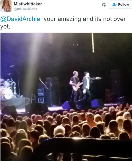 Richfield show david Archuleta tweet pic from Misti Whittaker