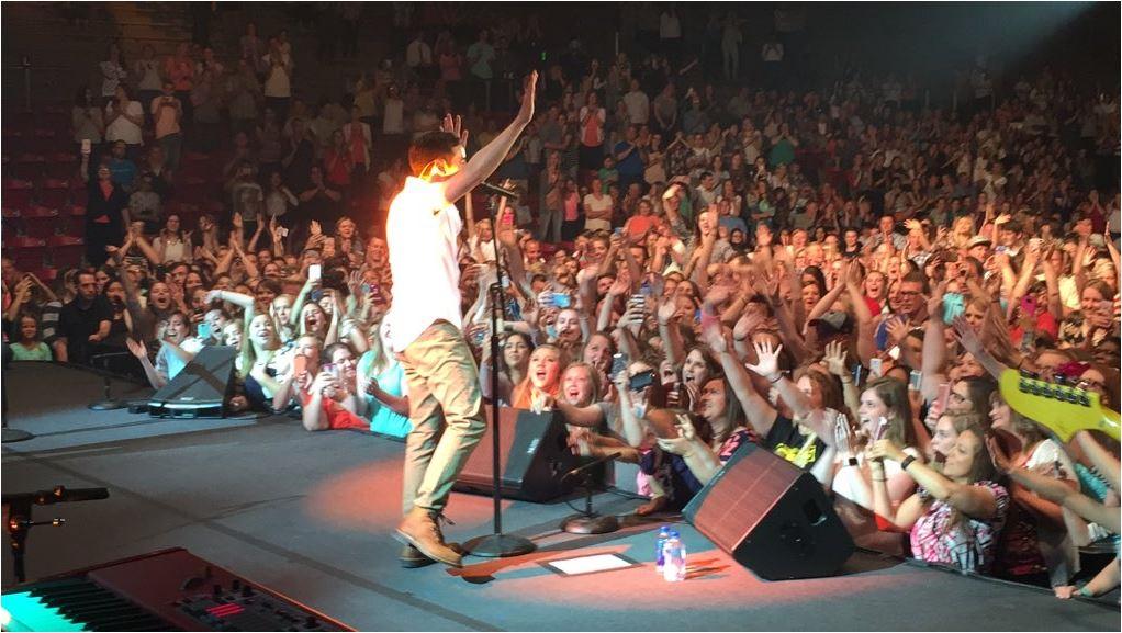 Rexburg night 2 Crowd credit David Archuleta