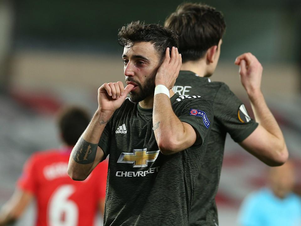 Manchester United penalty taker Bruno Fernandes (Manchester United via Getty Images)