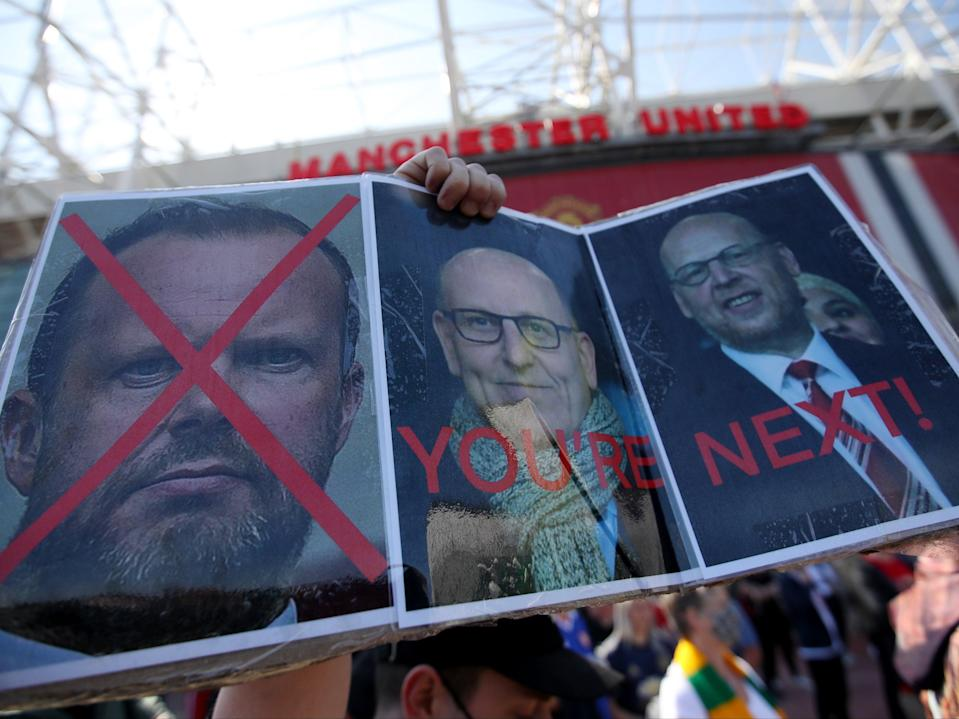 Manchester United fans protest against club ownership (Action Images via Reuters)