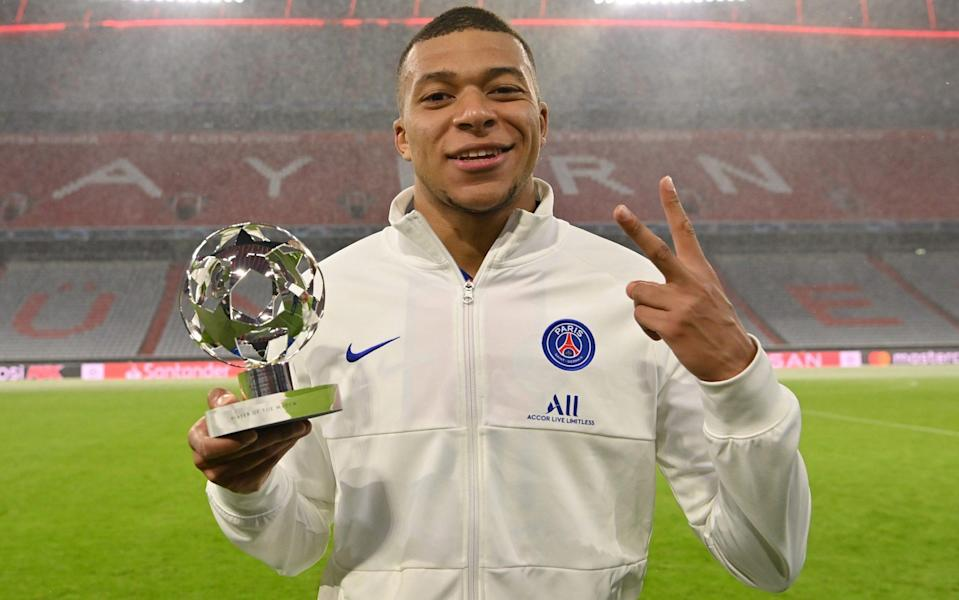 Kylian Mbappe is man of the match in PSG's victory over Bayern Munich - GETTY IMAGES
