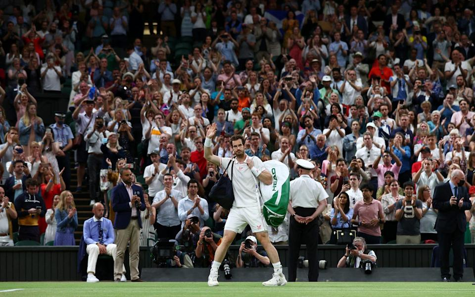 Murray bids farewell to Centre Court and its fans - GETTY IMAGES