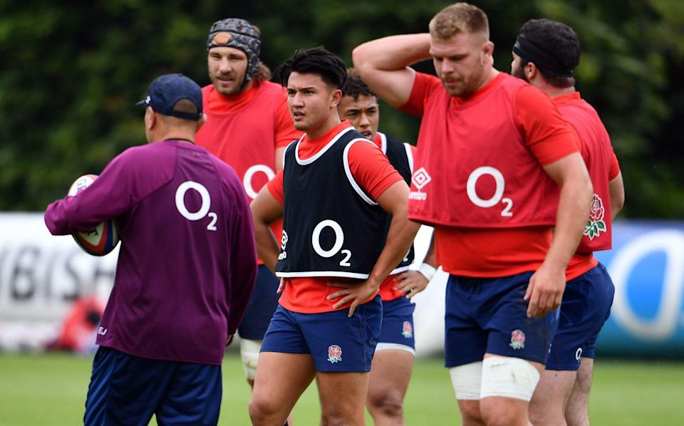 Marcus Smith training with England - PA