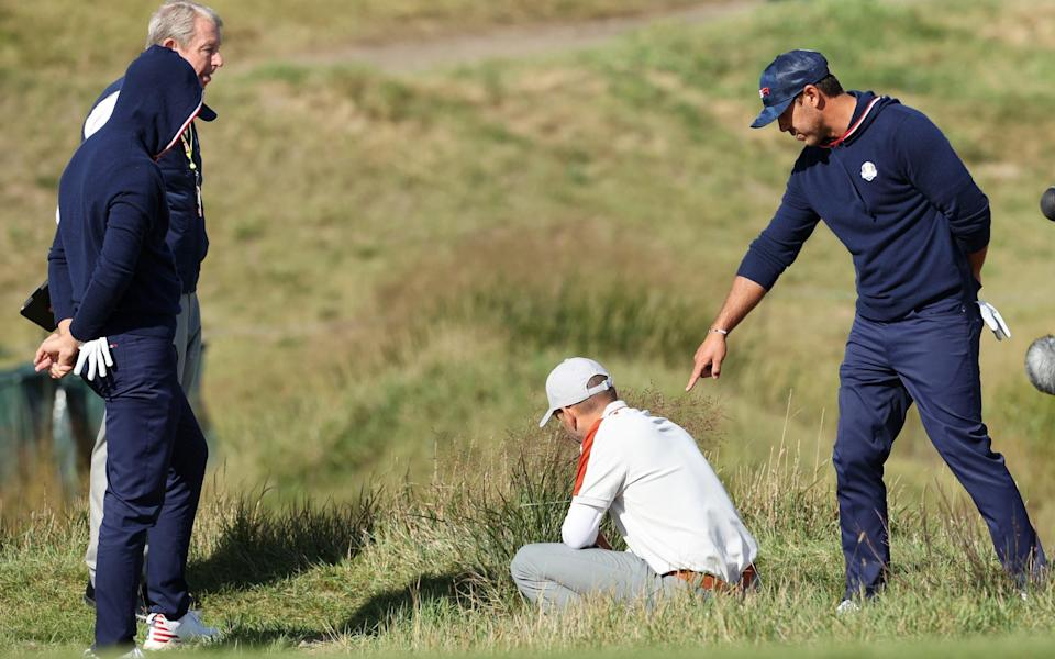 Brooks Koepka goes back and forth with the rules official - Getty Images