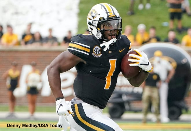 Tyler Badie's 392 scrimmage yards through two games leads the nation.