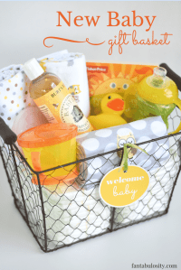 DIY New Baby Gift Basket Idea and Free Printable ...