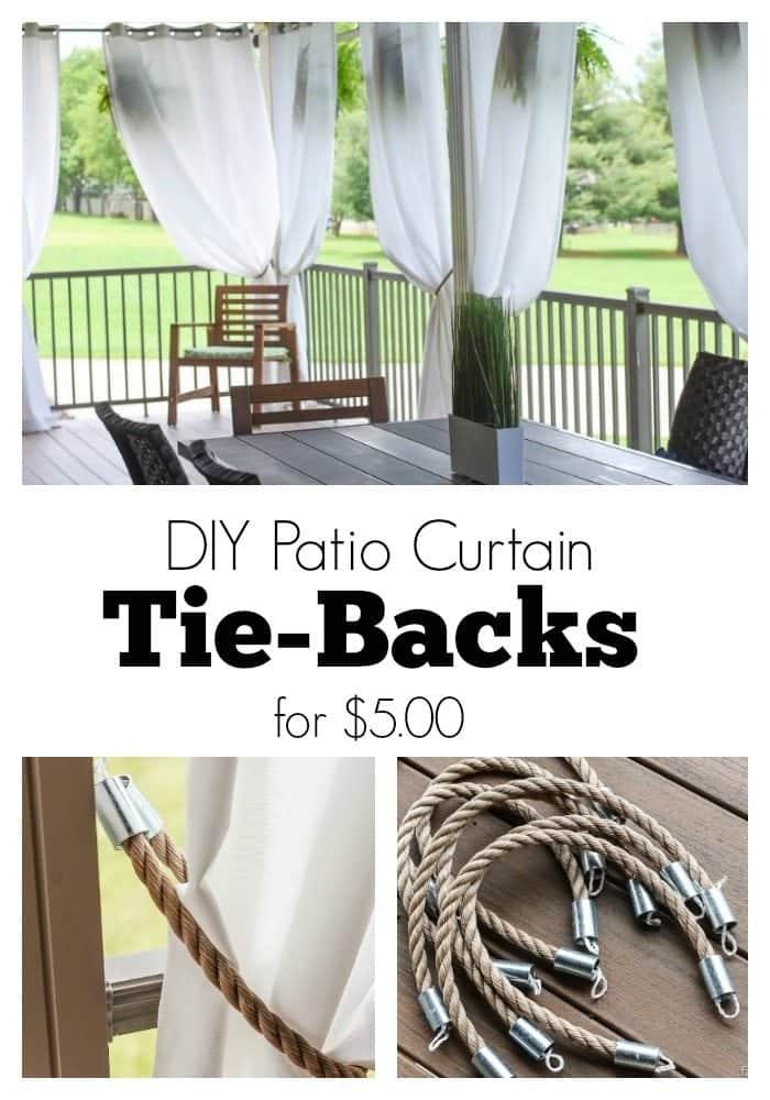 diy patio curtain tie backs for 5 00