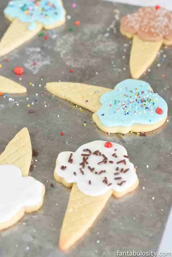 Ice Cream Cone Sugar Cookies Fantabulosity
