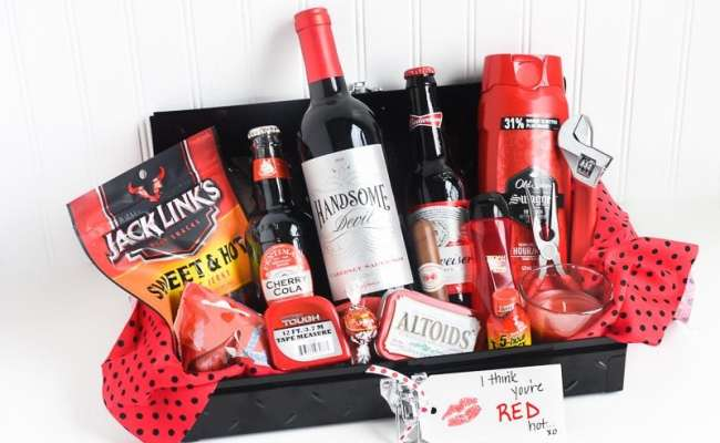Gift Idea For Him I Think You Re Red Hot Gift Basket