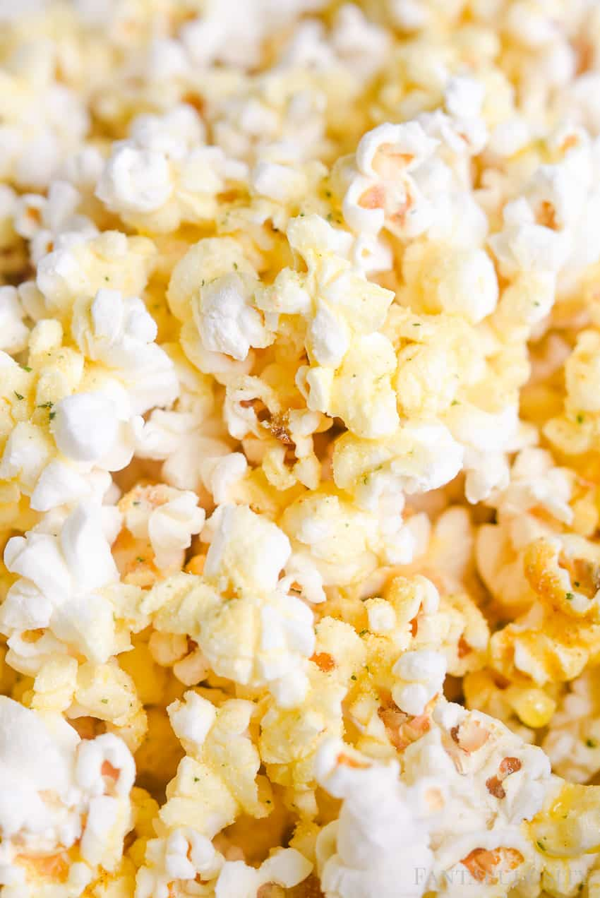 homemade popcorn in the microwave