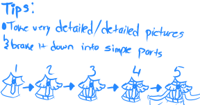 Pandy in a ball gown tutorial step 12