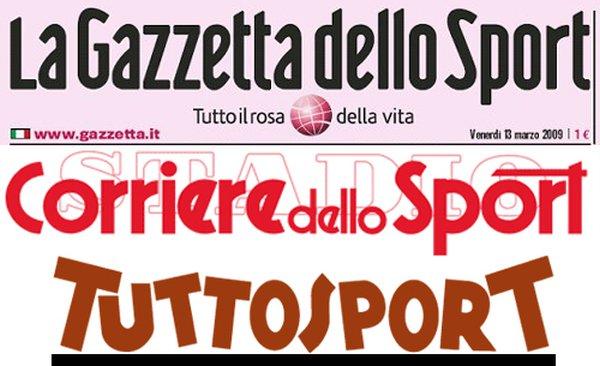 rassegna stampa quotidiani sportivi