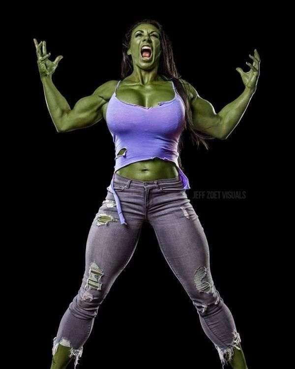 She Hulk muscling out