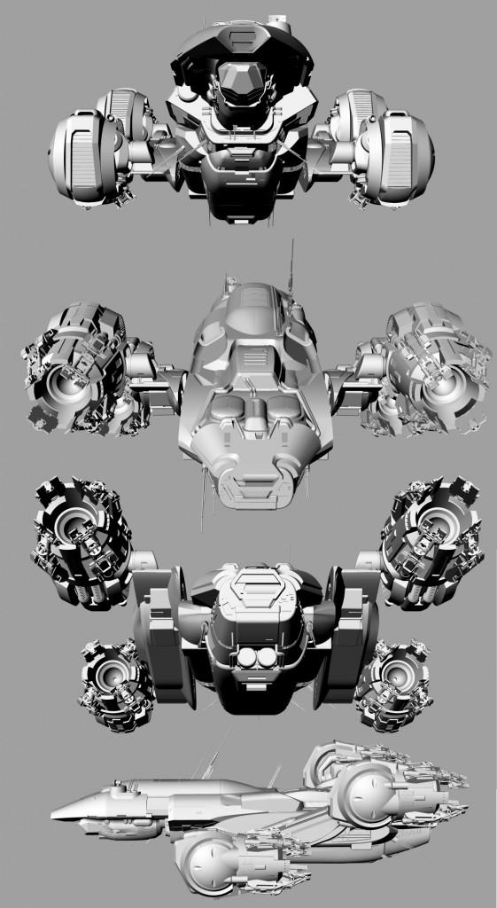 Starship Prometheus by Fantastic Plastic Models
