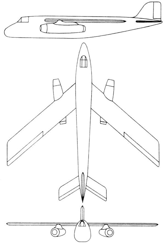 Focke Wulf FW 1000x1000x1000C Luft '46 Jet Bomber Project